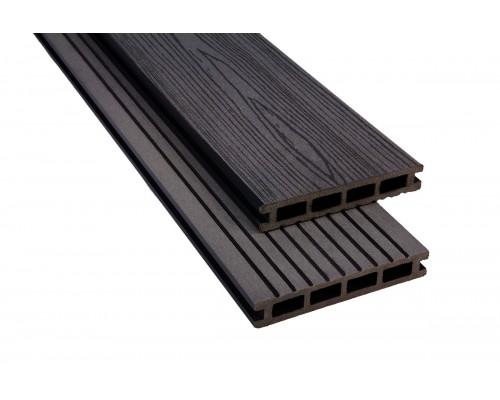 Террасная доскаPolymer&Wood серия Premium цвет Anthracite
