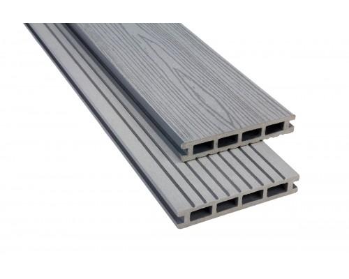 Террасная доскаPolymer&Wood серия Premium цвет Grey