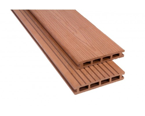 Террасная доскаPolymer&Wood серия Premium цвет Merbau