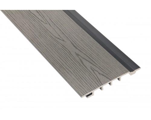 Фасадная доскаPolymer&Wood тип Сайдинг цвет Grey