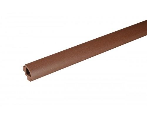 Профиль овальный к террасной доскеBergdeck цвет chestnut