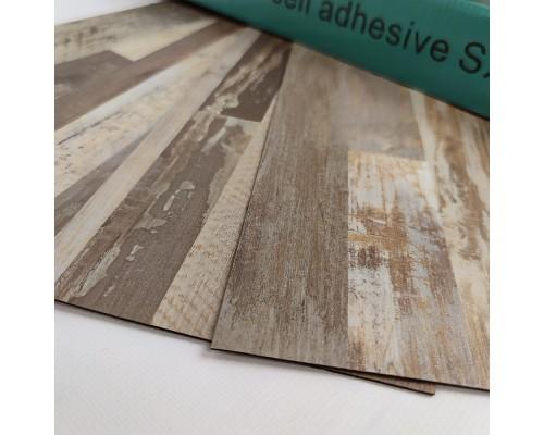 Самоклеящаяся гибкая виниловая плитка007 mozaik light wood