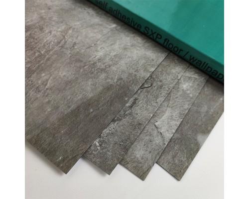 Самоклеящаяся гибкая виниловая плитка103 marble silver глянец